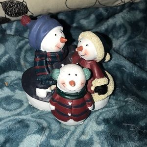 """Snowman ⛄️ statue family of 3 💕 3.5"""""""